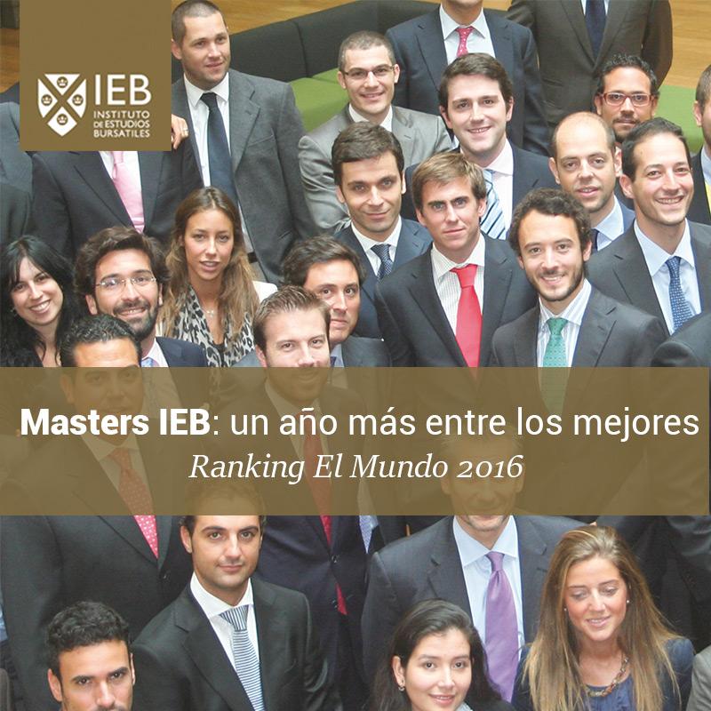 Masters IEB: Un año mas entre los mejores