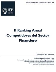 II Ranking Anual Competidores del Sector Financiero